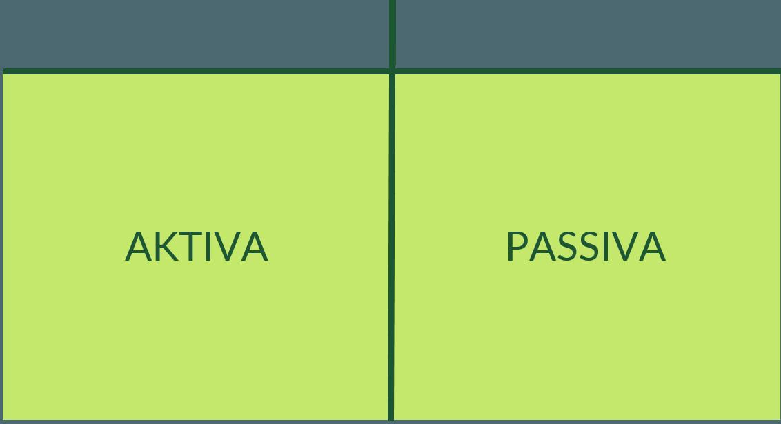 Aktiva und Passiva einer Bilanz